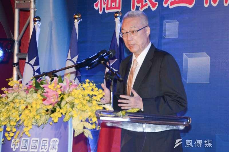 台北市勞動局今(12)日召開中國國民黨第七次強制協商會議,歷經2小時之協商,勞資雙方終達成,協商成立。。圖為主席吳敦義。(資料照,陳明仁攝)