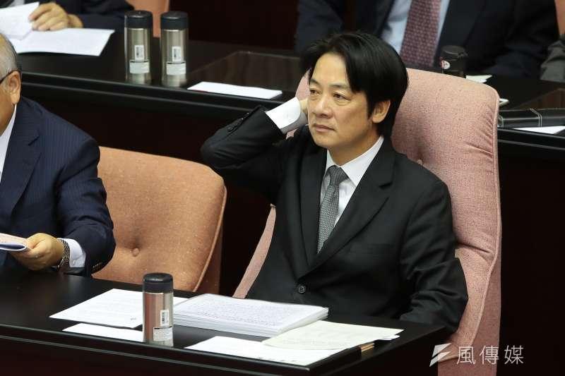 行政院長賴清德為解決產業五缺問題,今天召開「缺電」會議。(資料照片,顏麟宇攝)