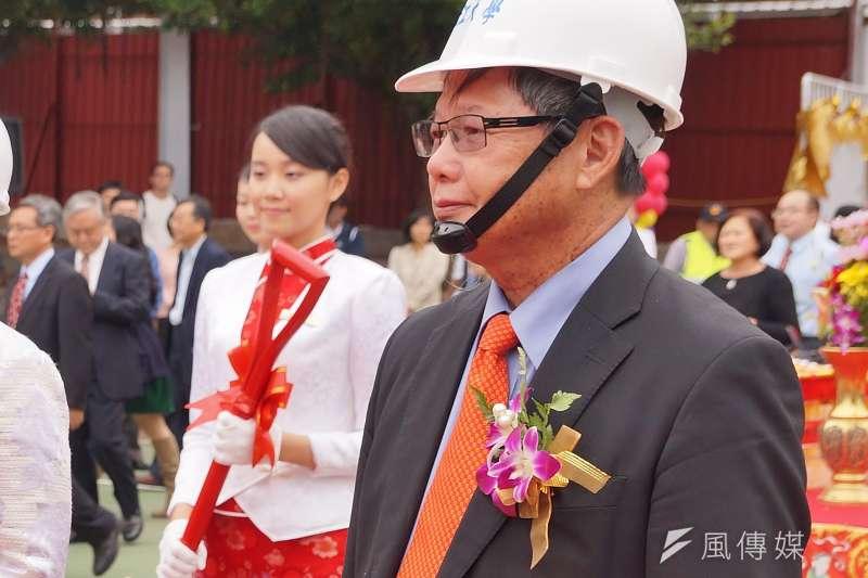 慶富集團董事長陳慶男出席淡江大學校慶活動。(盧逸峰攝)