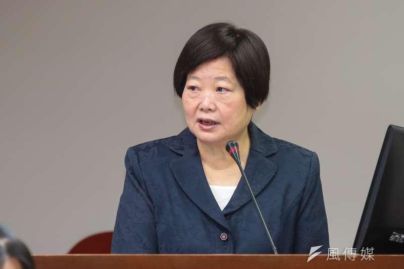20171019-勞動部長林美珠19日於立院衛環委員會備詢。(顏麟宇攝)