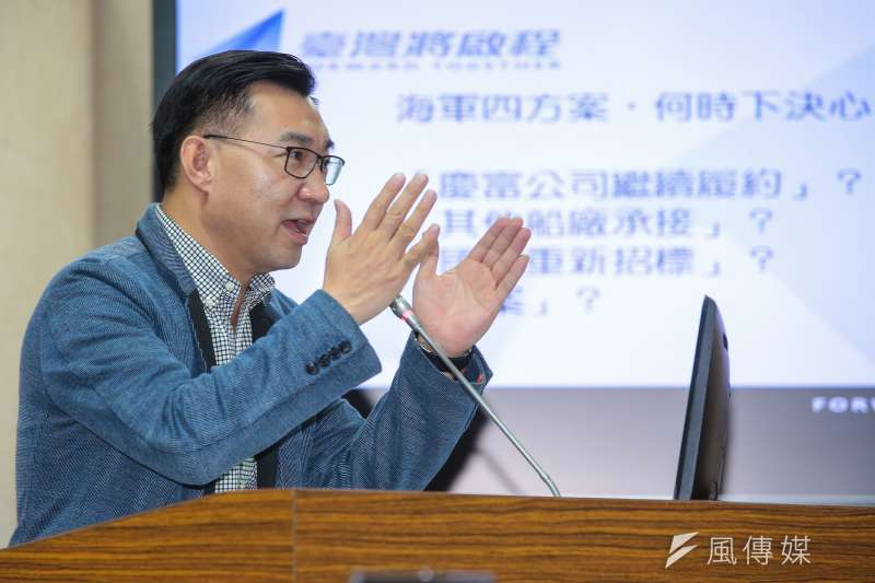 20171023-國民黨立委江啟臣23日於立院委員會質詢。(顏麟宇攝)