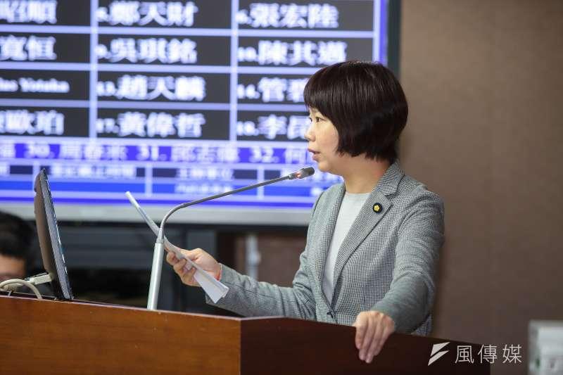 20171023-國民黨立委林麗蟬23日於立院內政委員會質詢。(顏麟宇攝)