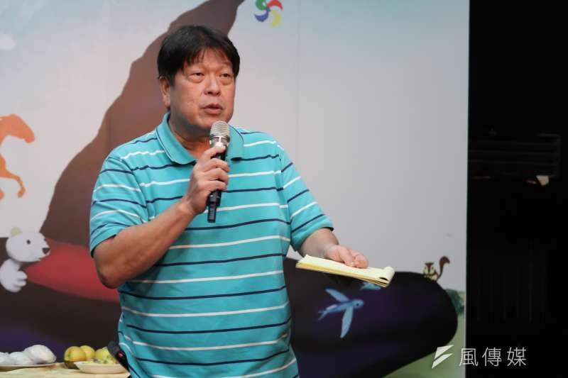 20171024-綠光劇團團長羅北安參加紙風車藝術待用券記者會。(朱冠諭 攝)