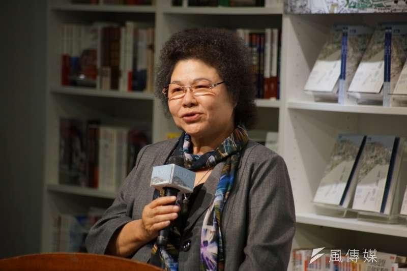 20171106-高雄市長陳菊出席「高雄學2.0」新書發表會。(盧逸峰攝)