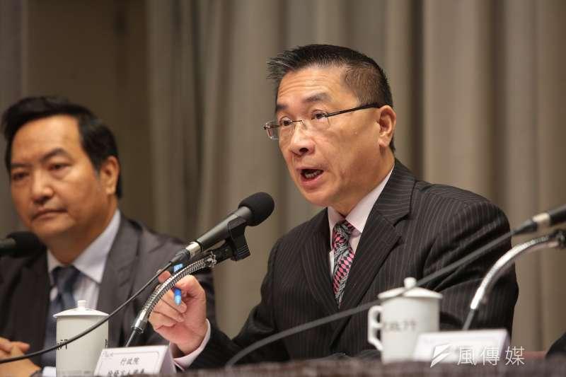行政院發言人徐國勇說明水利會升格為公法人、董事改由官派的考量。(資料照片,顏麟宇攝)