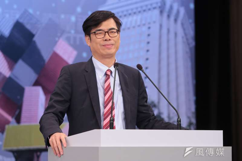 20171125-民進黨立委陳其邁25日出席參與「港都風雲‧高雄市長爭霸戰」電視辯論會。(顏麟宇攝)