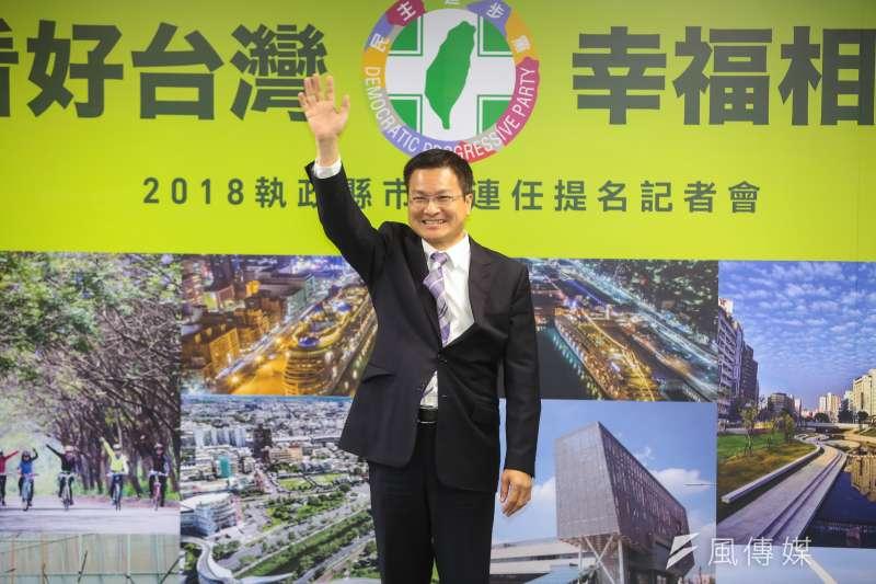 現任民進黨籍縣長魏明谷(見圖)目前支持度僅26.28%,落後國民黨立委王惠美的35.89%,引起政壇一片漣漪。(資料照,顏麟宇攝)