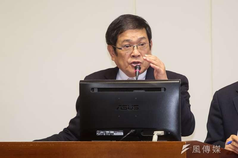20171207-台電董事長楊偉甫7日於經濟委員會備詢。(顏麟宇攝)