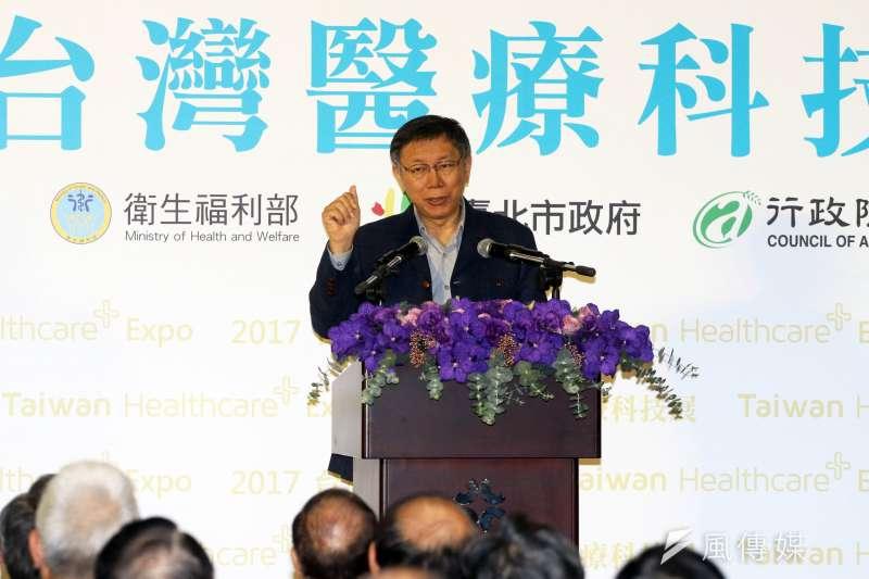 台北市長柯文哲表示,不以83年前後作為拆除違建與否的判準,要以有公共危險的優先拆。(蘇仲泓攝)