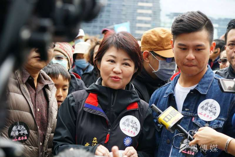 作者認為,空污讓民進黨中部選情緊張,有意角逐台中市長的國民黨立委盧秀燕民調定領先。(資料照,盧逸峰攝)
