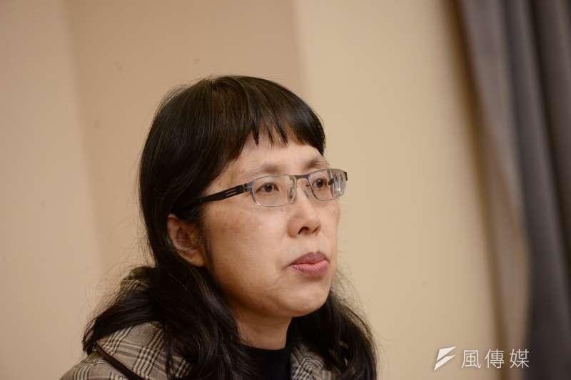 20171222-鹿窟事件記者會,監委高鳳仙。(甘岱民攝)