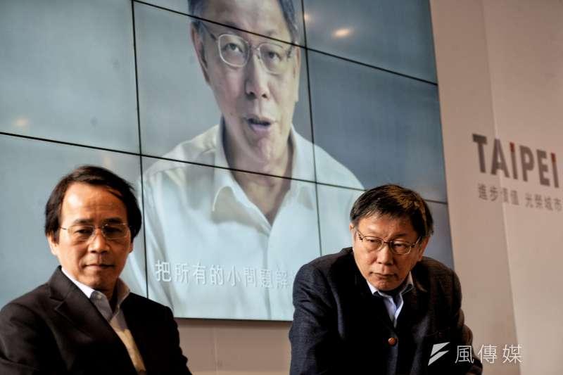 台北市長柯文哲對待媒體粗魯到竟要求所屬不得接聽記者電話。(甘岱民攝)