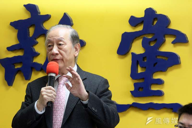 20171226-新黨上午召開「創新之旅」促進兩岸交流新聞發布會,由黨主席郁慕明主持。(蘇仲泓攝)