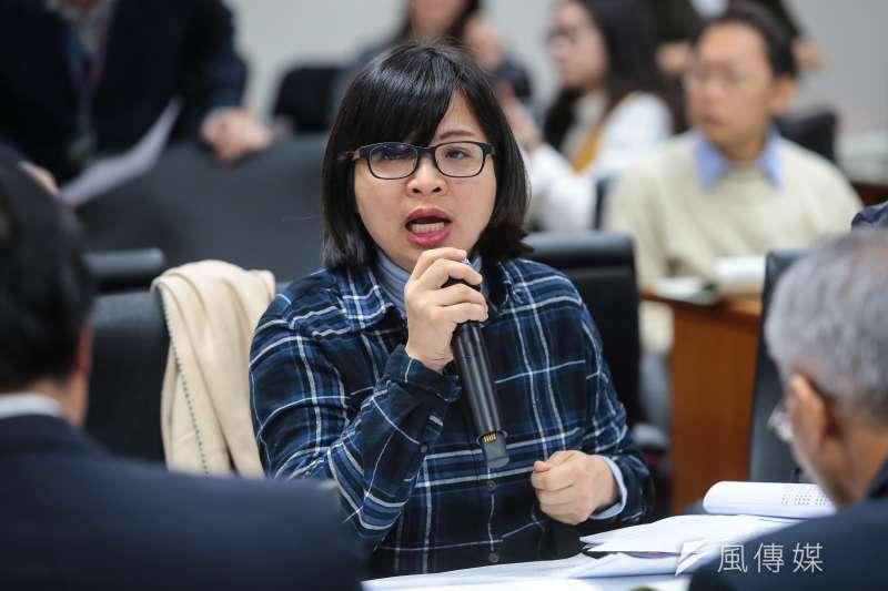 20171227-民進黨立委林淑芬27日出席經濟委員會審查礦業法。(顏麟宇攝)