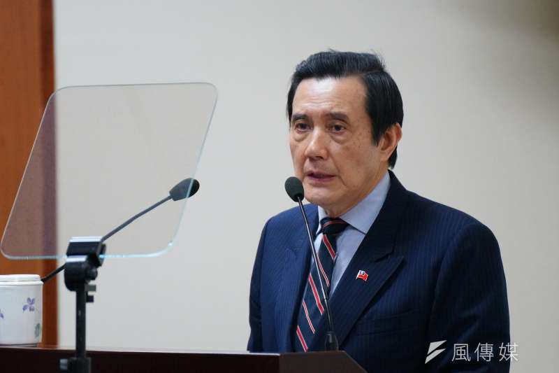 前總統馬英九出席國民黨中常會。(盧逸峰攝)
