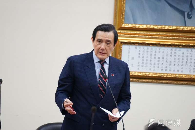 20180110-前總統馬英九出席國民黨中常會。(盧逸峰攝)