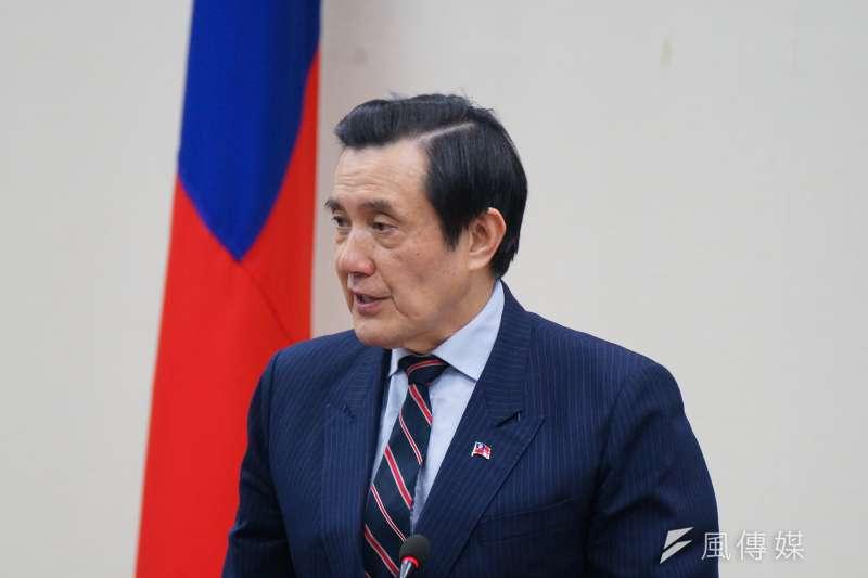 前總統馬英九出席國民黨中常會,追憶蔣經國,也談及自己遭到司法追殺。(盧逸峰攝)