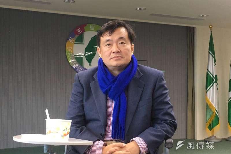 民進黨秘書長洪耀福下午表示,黨中央對於劉世芳退選一事,事前並不了解。(周思宇攝)