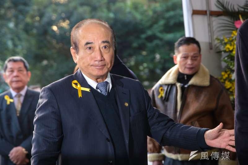 20180111-前立法院長王金平11日出席親民黨主席宋楚瑜母親胡窕蓉女士追思告別式。(顏麟宇攝)