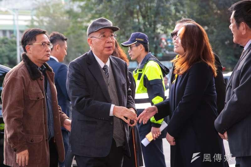 20180111-前內政部長吳伯雄11日出席親民黨主席宋楚瑜母親胡窕蓉女士追思告別式。(顏麟宇攝)