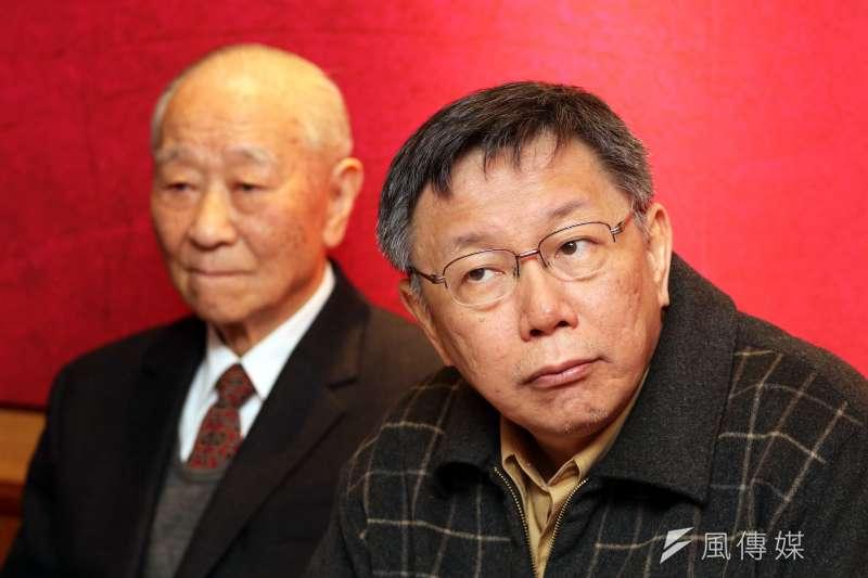 北市府12日公布市政滿意度民調, 對於台北市長柯文哲的施政表現,有58%的受訪者表示滿意。(蘇仲泓攝)