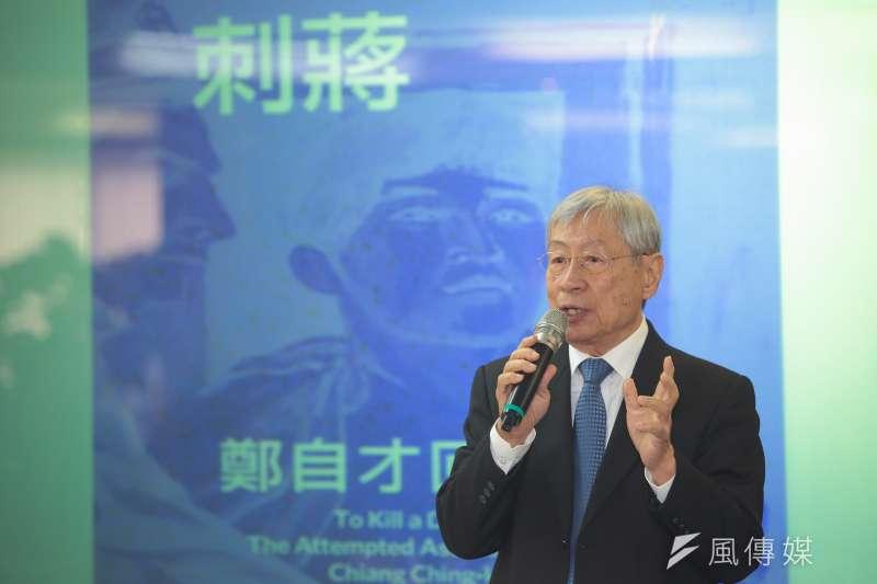 「424刺蔣案」策劃人鄭自才強調,如果轉型正義不做,國民黨可能會再回來。(顏麟宇攝)