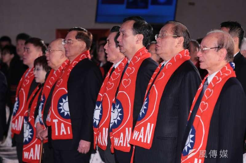 20180113-國民黨前主席馬英九、朱立倫、洪秀柱、連戰、吳伯雄等13日出席「經國先生逝世30週年紀念大會」。(顏麟宇攝)