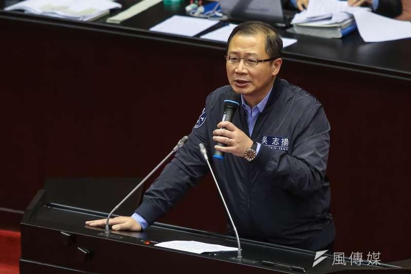 國民黨不分區立委吳志揚面對縣市長選舉的態度是「三不」:不選、不辭(不分區立委)、不違父命。(顏麟宇攝)