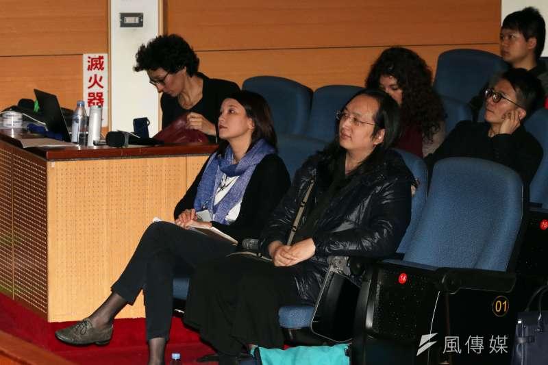 20180125-政務委員唐鳳晚間出席「想像力奪權 思辨之夜」活動。(蘇仲泓攝)