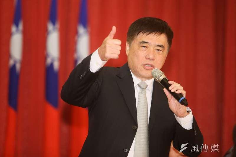 國民黨副主席郝龍斌出席全國公教軍警暨退休人員聯合總會會員大會。(陳明仁攝)