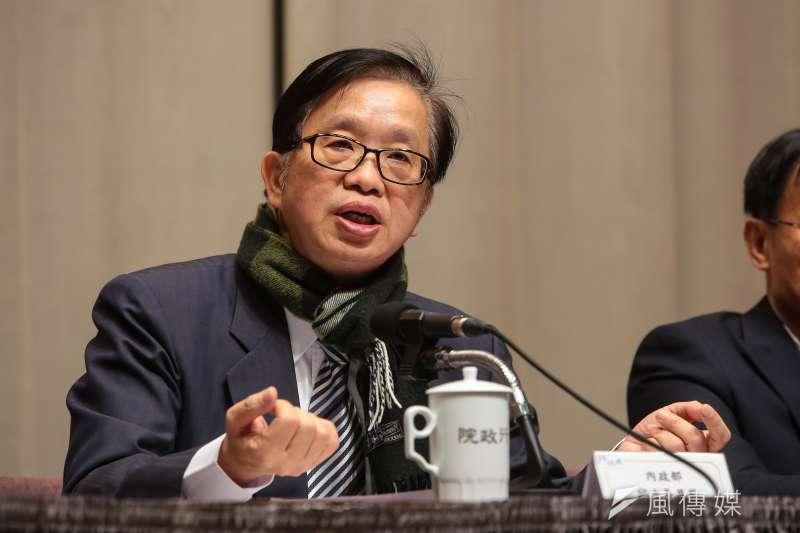 20180208-行政院發言人徐國勇8日於行政院會後,召開記者會說明。(顏麟宇攝)