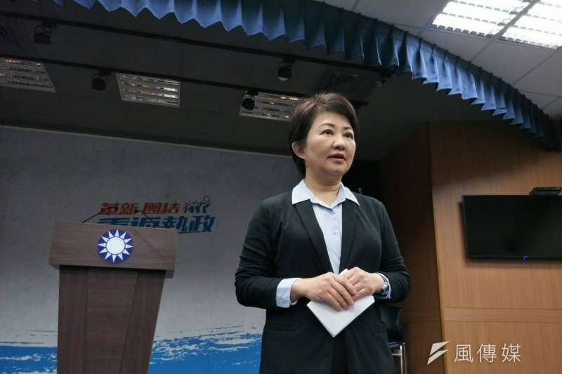 國民黨台中市長初選結果出爐,立委盧秀燕確定獲得國民黨提名參選台中市長。(周怡孜攝)
