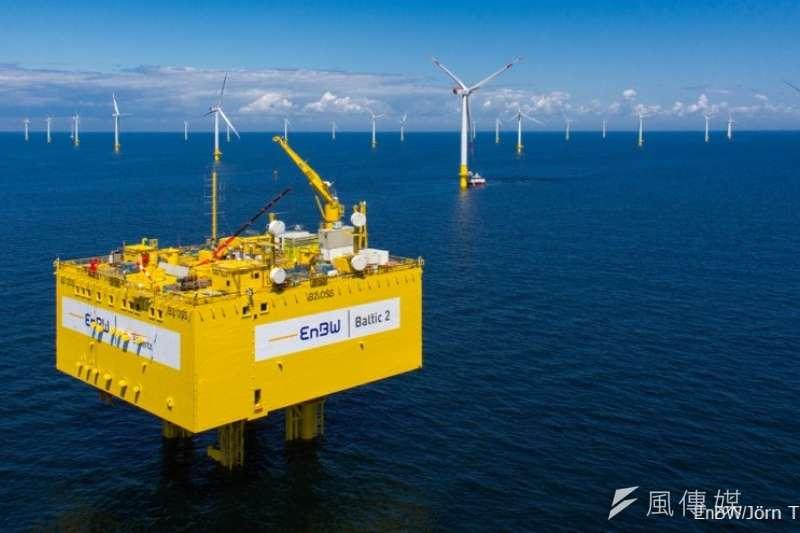 離岸風電競價的得標價格跌破眼鏡。(上暐新能源提供)