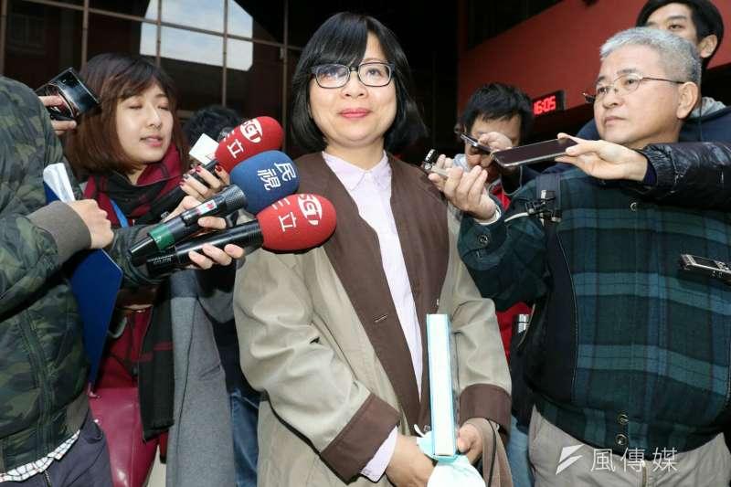 民進黨立委林淑芬被要求離開衛環委員會。(蘇仲泓攝)