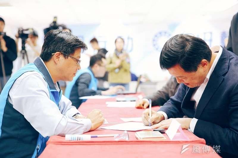 周錫瑋登記國民黨新北市長提名初選,不過,他一路衝著黨內同志侯友宜酸言酸語,格調不高。(周錫瑋臉書)