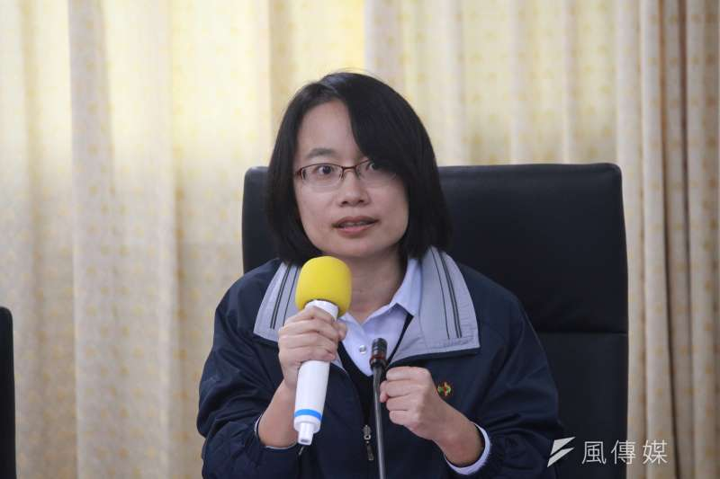 2018-03-08-台北農產運銷公司召開記者會,北農總經理吳音寧。(方炳超攝)