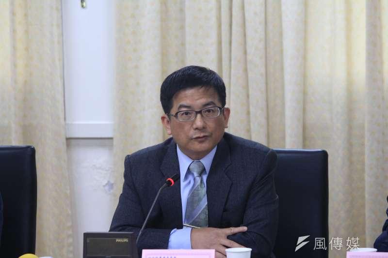 2018-03-08-台北農產運銷公司召開記者會,農糧署副署長蘇茂祥。(方炳超攝)