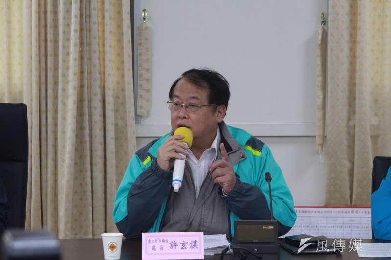 2018-03-08-台北農產運銷公司召開記者會,市場處處長許玄謀。(方炳超攝)