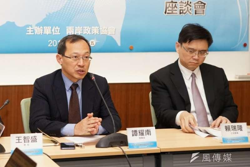 20180309-2018中共兩會後座談會,譚耀南發言。(盧逸峰攝)