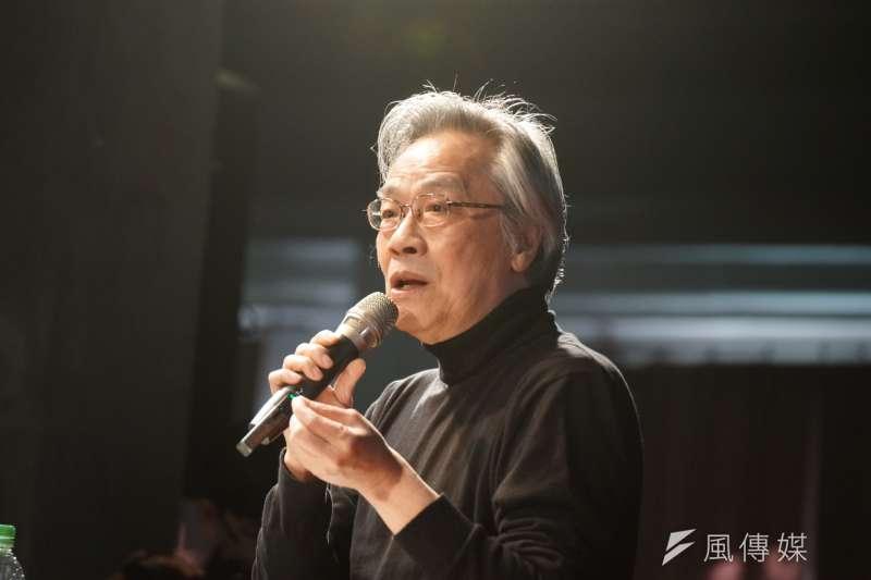 思沙龍《上報》董事長王健壯以「美國:反戰、 學運、民權50周年」為題演講,強調年輕世代對於時代的反應,需要累積的過程。(盧逸峰攝)