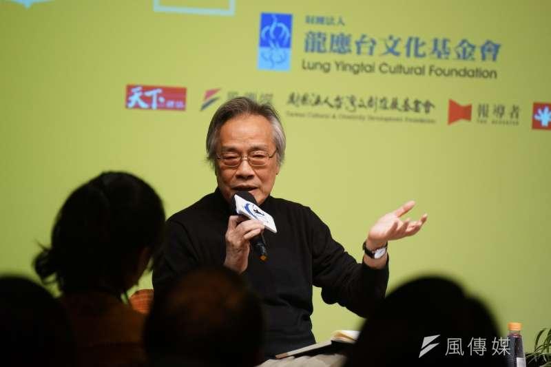 20180310-思沙龍《上報》董事長王健壯以「美國:反戰、 學運、民權50周年」為題演講。(盧逸峰攝)
