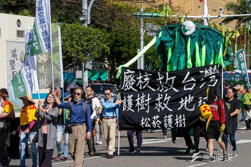 20180311-「面對核電代價,翻轉能源未來」311廢核大遊行。(陳明仁攝)