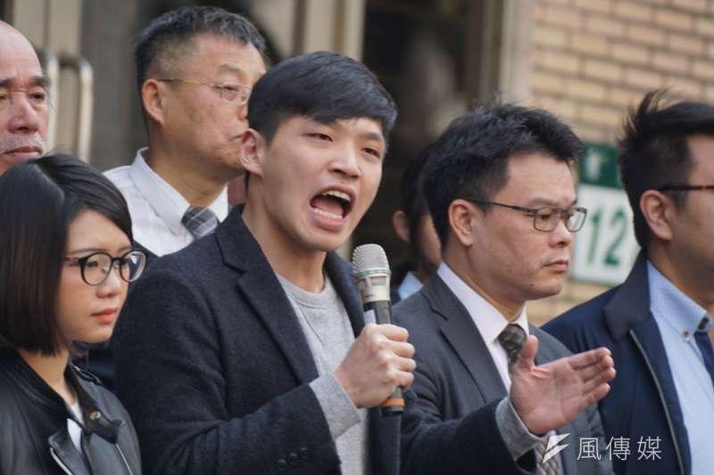 20180313-「318學運案二審宣判」記者會,陳為廷發言。(盧逸峰攝)