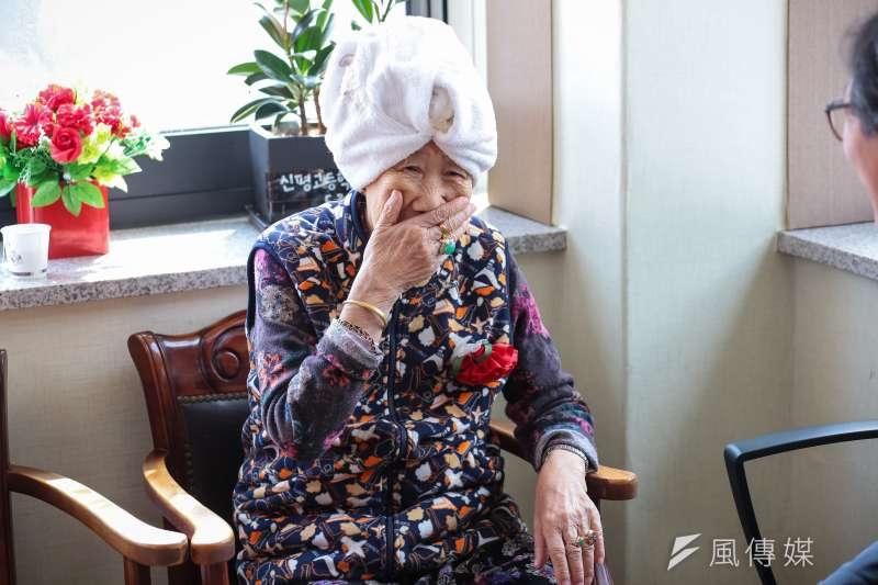20180310-慰安婦專題,韓國京畿道廣州市,分享之家內的阿嬤。(顏麟宇攝)