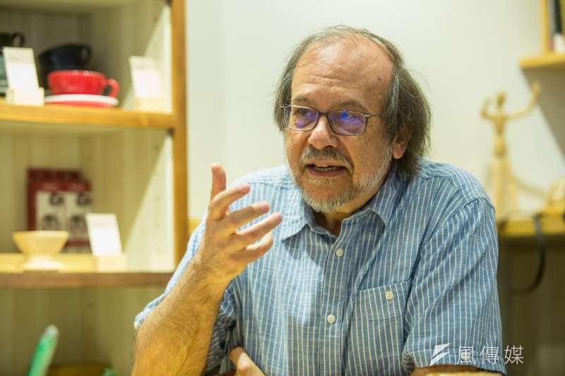 曾參與1968五月學運的法國漢學家潘鳴嘯,早在1970年代就接觸逃離香港的中國知青,成為研究上山下鄉、文革的知名學者。(顏麟宇攝)