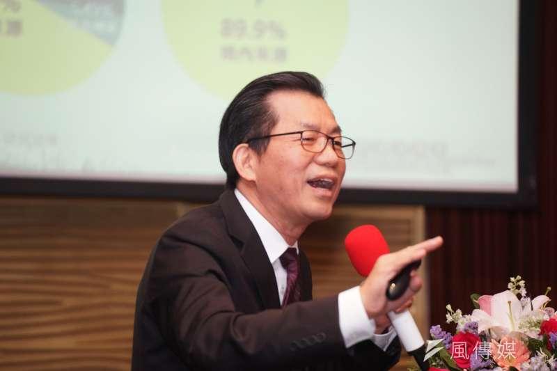 環保署長李應元今(18)日說,從整體空污來源分析,燃煤電廠的空污排放量遠低於移動污染源。(盧逸峰攝)