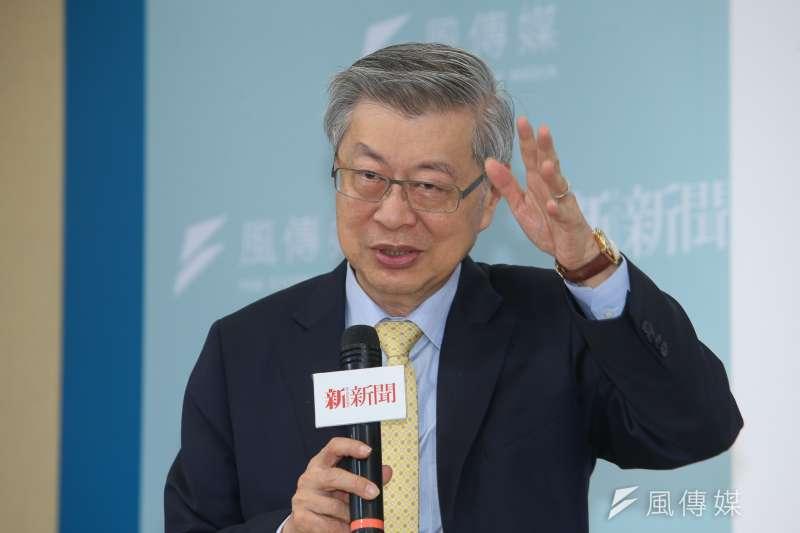 前行政院長陳冲談財團法人法等相關問題。(資料照片,陳明仁攝)