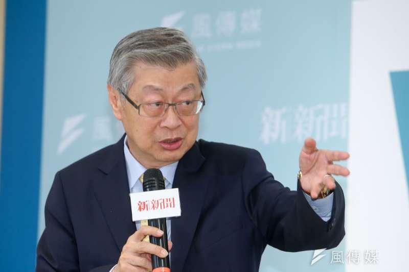 前行政院長陳冲談財團法人法問題。(資料照片,陳明仁攝)