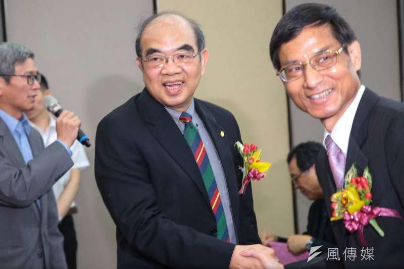 20180419-新任教育部長吳茂昆19日出席教育部長交接典禮。(顏麟宇攝)