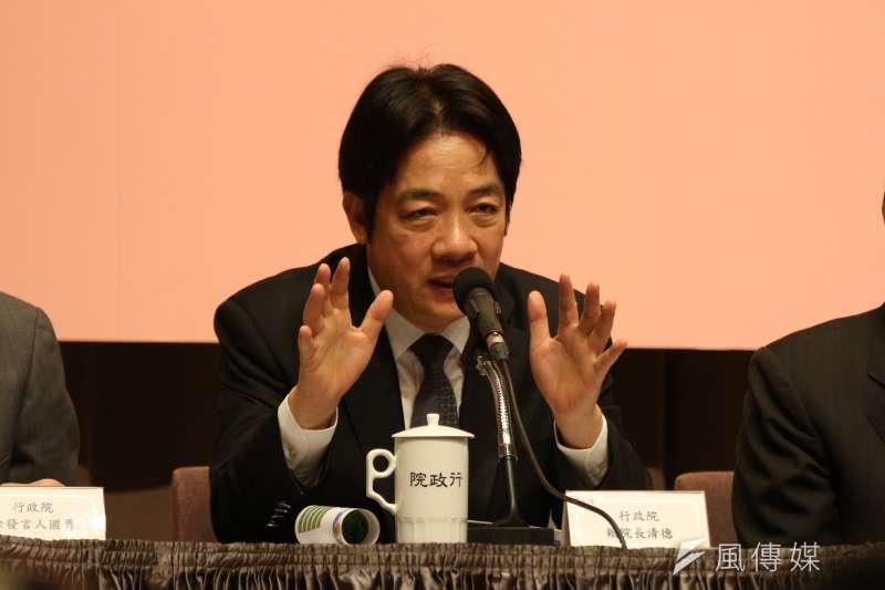 賴清德提出的金融改革方案是否能讓台灣金融業現代化?(陳韡誌攝)